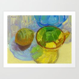 Colored Glass #12 Still Life Art Print