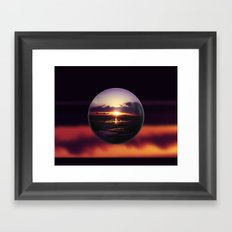 Float on the clouds like a drop of dew and bask in the light of a sunrise view Framed Art Print