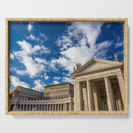 Piazza San Pietro, in the Vatican City; Rome Italy Serving Tray
