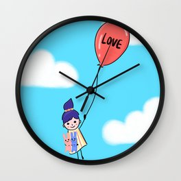 Love is Up Above Wall Clock
