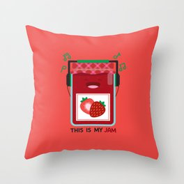 This is My (Strawberry) Jam Throw Pillow