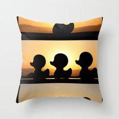 Ducks Ducks Ducks! Throw Pillow