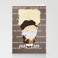 da vinci Stationery Cards featuring Leonardo da Vinci by Alapapaju