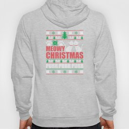 Meowy Christmas Ugly Christmas Sweater Funny Cat T-Shirt Hoody