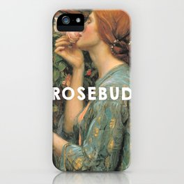 The Soul of the Rose (1908), John William Waterhouse // Citizen Kane (1941), Orson Welles iPhone Case