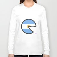 argentina Long Sleeve T-shirts featuring Argentina Smile by onejyoo
