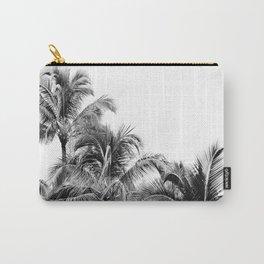 Big Island Palms - Minimal Boho Black and White Carry-All Pouch