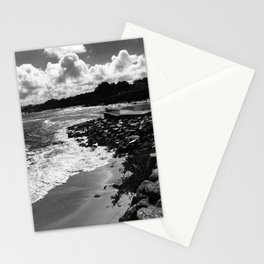 Dramatic black and white photo of Monterey Bay Stationery Cards