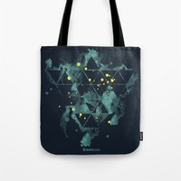 """deadmau5 Tote Bags featuring Gravity Levels """"Space Bird"""" by Sitchko Igor"""