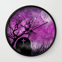 Hallow In Pink Wall Clock