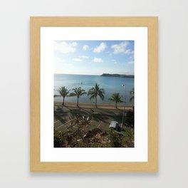 A beach in Noumea Framed Art Print