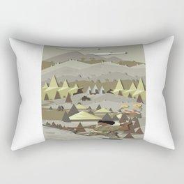 A Bronze Age Landscape Rectangular Pillow