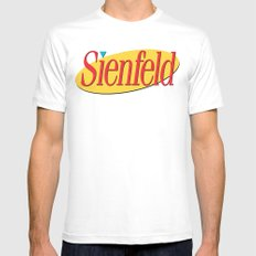 Sienfeld Mens Fitted Tee MEDIUM White