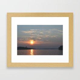 Sundown on Pelican Lake Framed Art Print