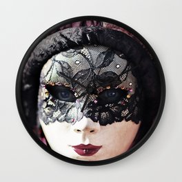 Italy Venice Mask 4 woman Wall Clock