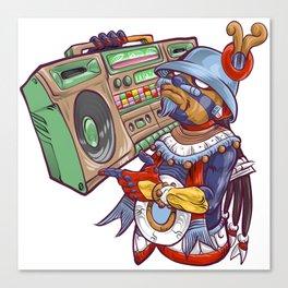 Tezcatlipoca Old School Hip Hop Canvas Print