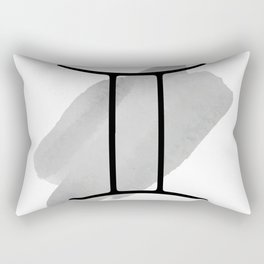 GEMINI May 21 - June 20 The Twins, Zodiac Symbols Horoscope And Astrology Line Signs Rectangular Pillow