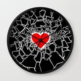 Heartbreaker III Black Wall Clock