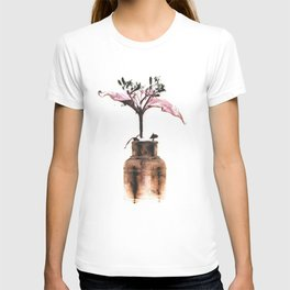 Ink well with flower T-shirt