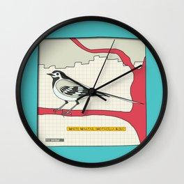 White Wagtail Wall Clock