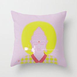 Buddha : Make Love! (PopArtVersion) Throw Pillow
