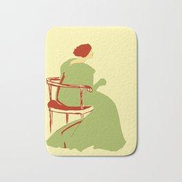 Living posters minimalist art nouveau Bath Mat
