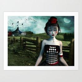 Leaving the circus Art Print