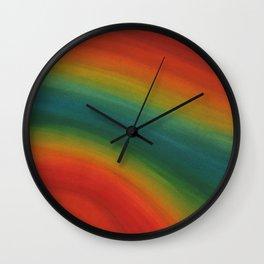 Rainbow lines of Pride Wall Clock