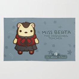Miss Berta the Hedgehog Teacher Rug