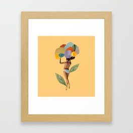 i walk out in the flowers and feel better Framed Art Print