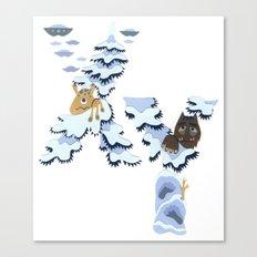 X & Y Canvas Print
