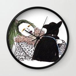 Emilia Farts and dog Wall Clock