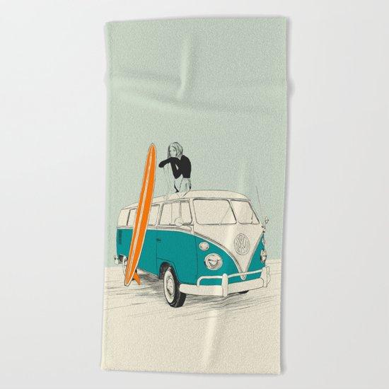 Wild Surfer Beach Towel