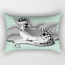 Poisonous Dragon-Teal Palette Rectangular Pillow