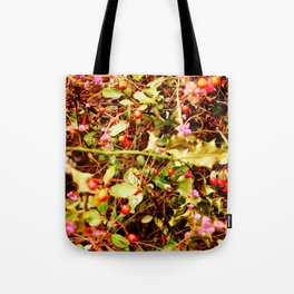 Winter blossom and berries Tote Bag