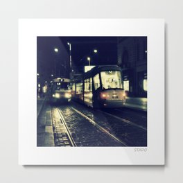 Passing Trains of Prague Metal Print