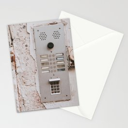 Old inter com ring bell access home Stationery Cards