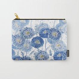 blue indigo dandelion pattern watercolor Carry-All Pouch