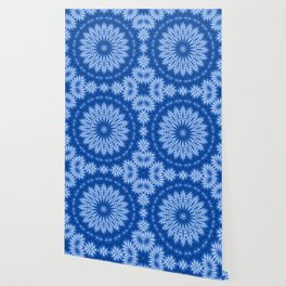 The Perfect Fluff Kaleidoscope Neon Blue Wallpaper