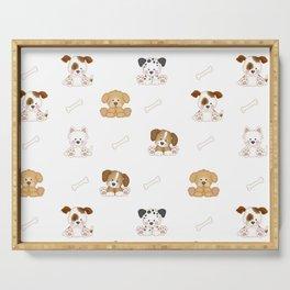 Puppy Dog Baby Nursery Wall Art Serving Tray