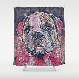 GlitzyAnimal_Dog_007_by_JAMColors Shower Curtain