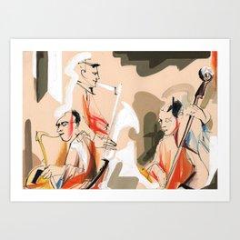 Jazz musicians concert Art Print