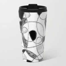 maze black and white Travel Mug