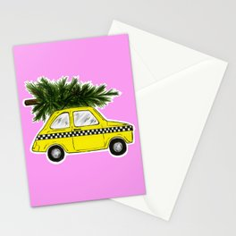 Christmas Taxi Stationery Cards