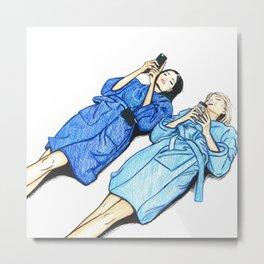 Kendall & Lily Fashion Illustration Metal Print
