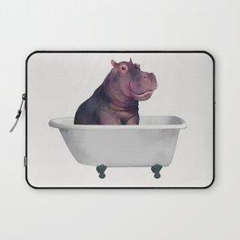 Hippo in the bathtub  Laptop Sleeve