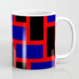 tile black and blue pattern Coffee Mug