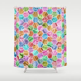 Marble Hive Jewels Shower Curtain