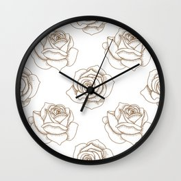 Rose Line Art Neck Gaiter Rose Pattern Neck Gator Wall Clock