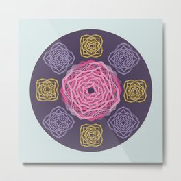 Roses composite  - Papercut Patterns Metal Print
